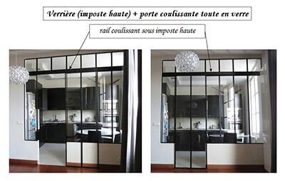 Verriere d'atelier d'artiste intérieur sur-mesure - Oise, Paris, Île de france & en France - Carette