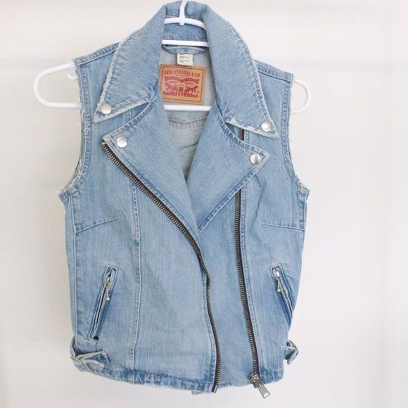 Levis, denim waistcoat, jacket, size small cool! Really cool waist jacket by Levis looks awesome on, size small Levis Jackets & Coats Vests