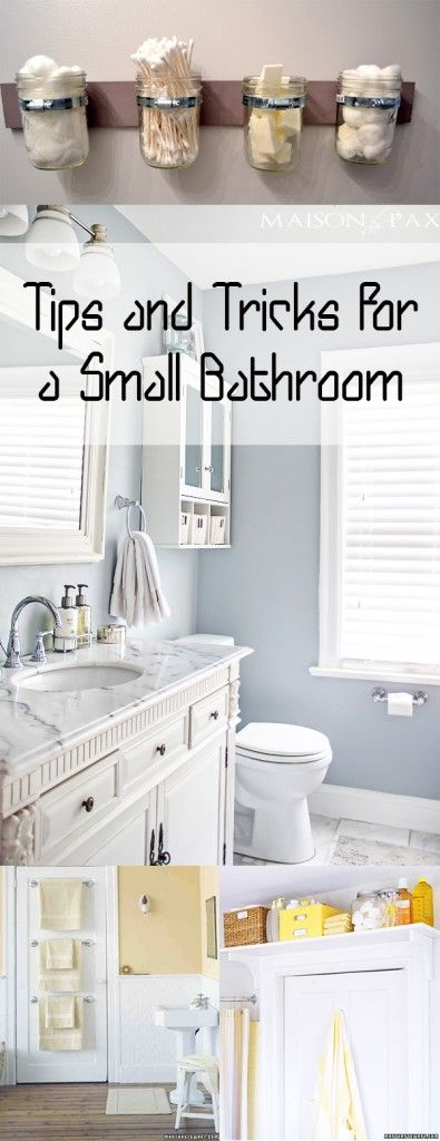 Tips and Tricks for a Small Bathroom. DIY, DIY home projects, home décor, home, dream home, DIY kitchen, DIY kitchen projects, weekend DIY projects.