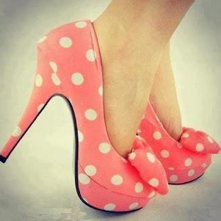 shoes: Pink Polka Dots, Fashion, Polka Dots Shoes, Style, Minniemouse, Minnie Mouse, High Heels, Polka Dots Heels, Polkadots