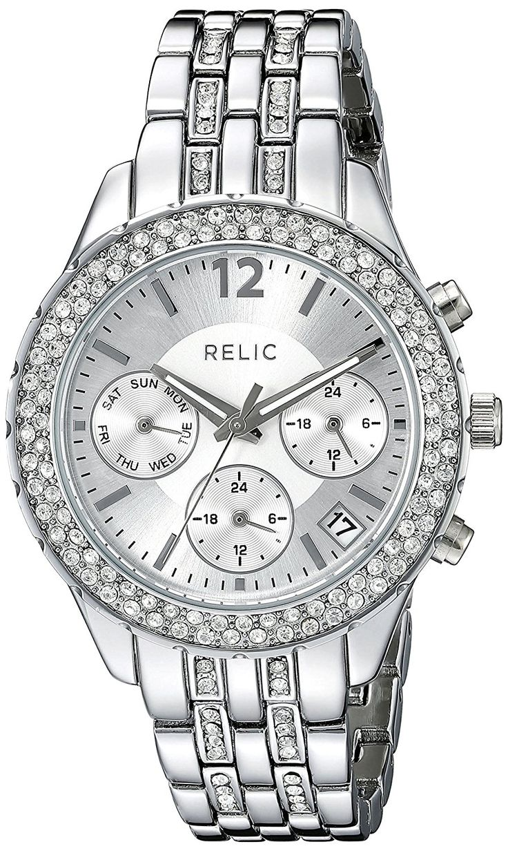 Relic Women's ZR15785 Merritt Stainless Steel Bracelet Watch *** Click on the watch for additional details.