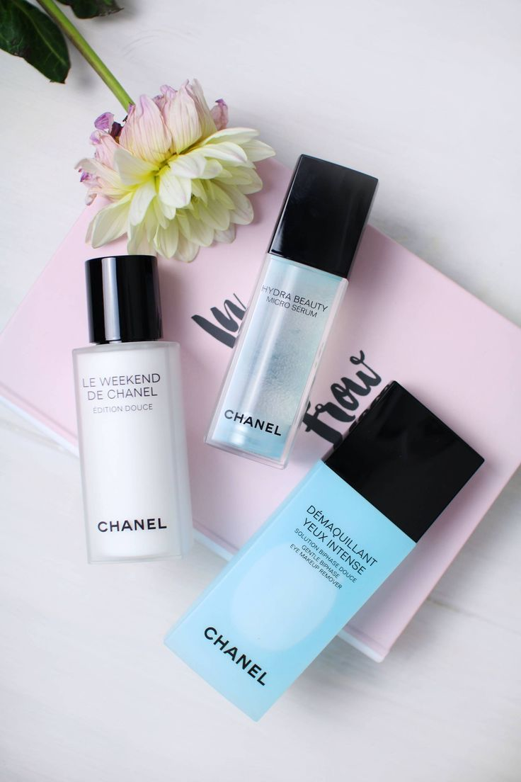 Reviewing the Chanel Hydra Beauty Micro Serum, Chanel Le Weekend de Chanel and the Chanel Eye Makeup Remover in a Chanel skincare special