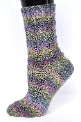 Sausalito Scalloped Socks - free knit sock pattern - Crystal Palace Yarns