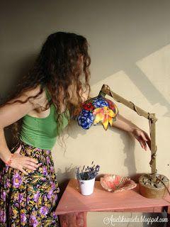 Diy tutorial / Tiffany lampshade inspired / fabric...