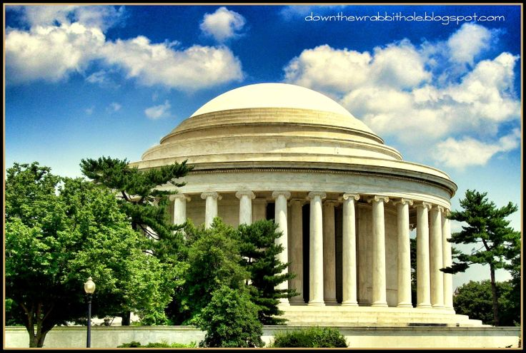 "Stroll the grounds of the Thomas Jefferson Memorial in Washington DC. Find out more at ""Down the Wrabbit Hole - The Travel Bucket List"". Click the image for the blog post."