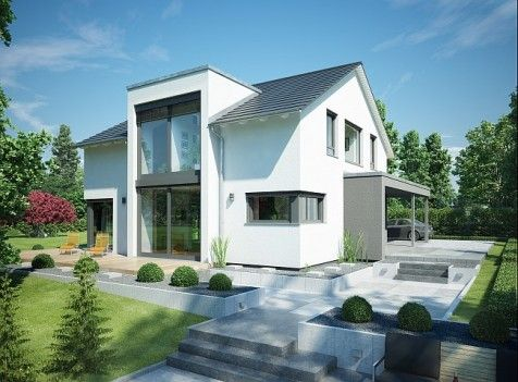 Modernes haus mit twist twists haus and architecture for Moderne architektur satteldach