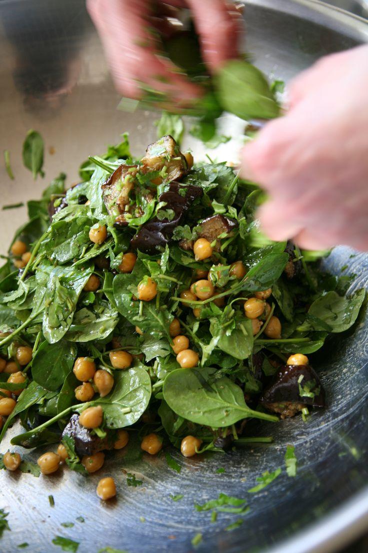 Pip's Big Fat Eggplant & Chickpea Salad Ripe Recipes - A Fresh Batch By Angela Redfern