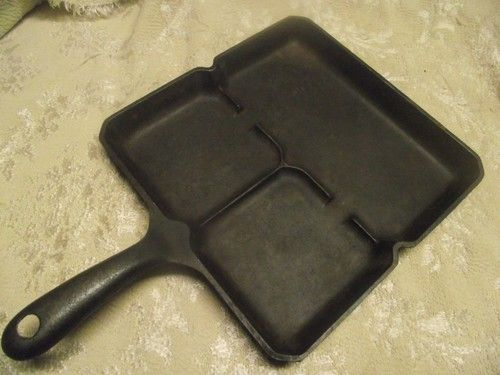 VINTAGE CAST IRON GRISWOLD WAGNER BEST MADE BACON AND EGG FRYER PAN | eBay