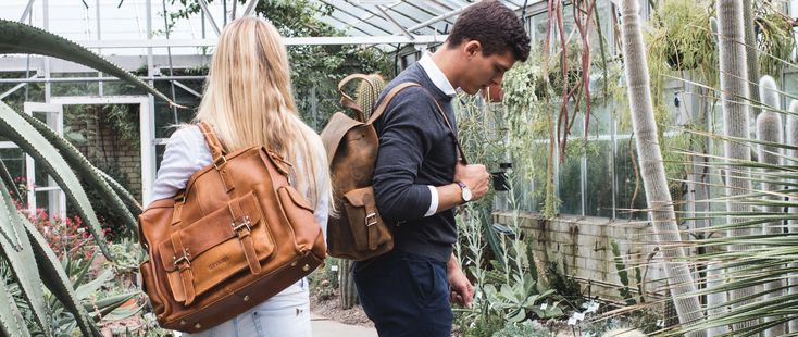 Leather bags by Scaramanga