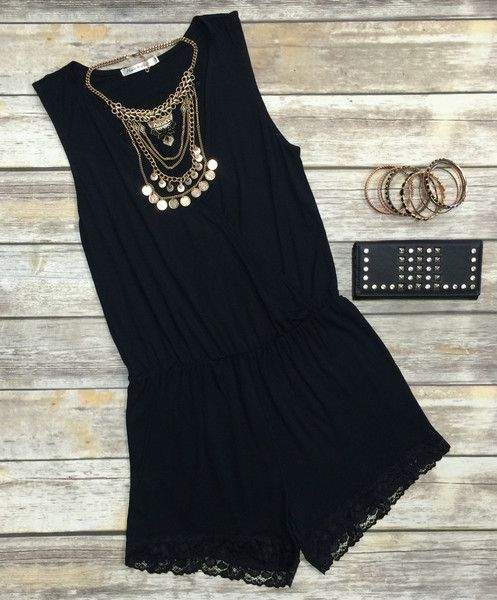 The Simply Stated Romper in Black is such a fabulous option this spring season! Easy, breezy, and oh so cute, all you need is a statement necklace to make it PO