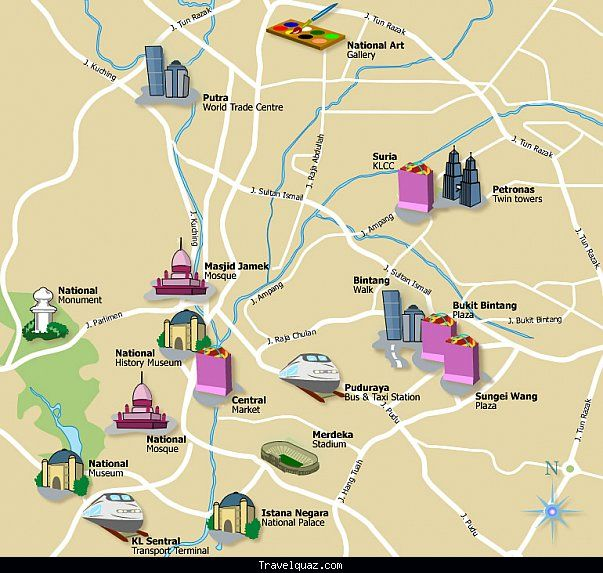 awesome Kuala Lumpur Map Tourist Attractions