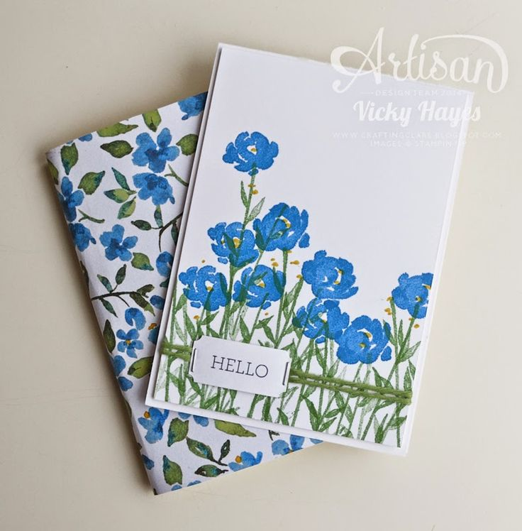 Hello Card with the Painted Petals stamp set