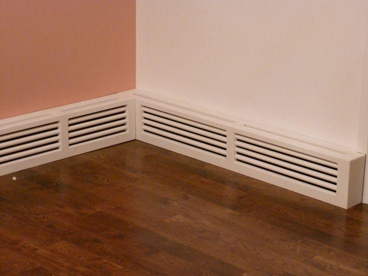Custom made wood baseboard heater cover baseboard heater