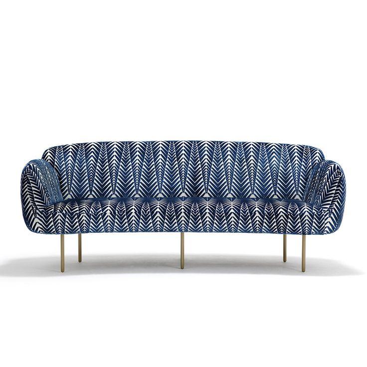 Canapé contemporain / en acier / en cuir / en tissu