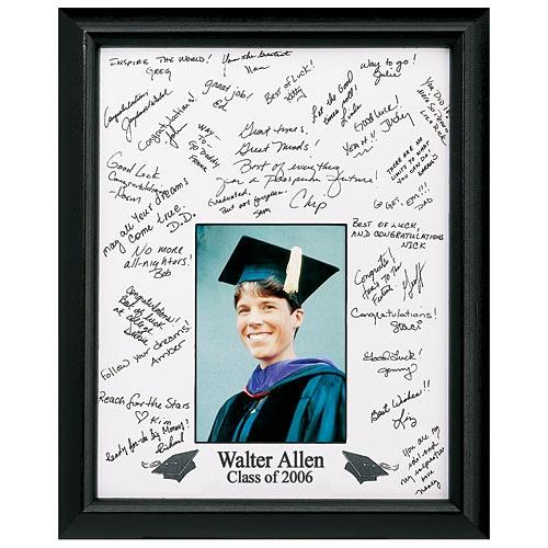 Personalized Graduation Autograph Photo Frame