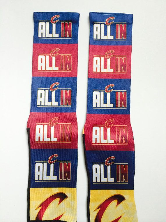 All In Cleveland Cavs Playoff socks by LeagueReady on Etsy