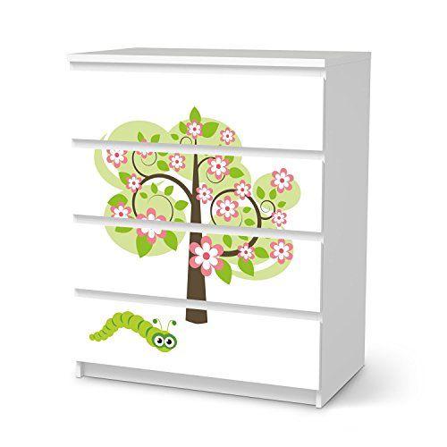 M belfolie ikea malm 4 schubladen design blooming tree kids kinderzimmer creatisto http www - Amazon kinderzimmer ...