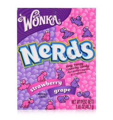 Wonka is an iconic candy brand and they make amazing sweets; these Nerds are small chewy sweets that come a great range of favours.  These Nerds come in delicious cherry and watermelon flavours.  Imported from America.