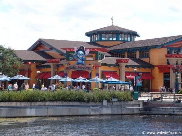 Downtown Disney Marketplace at Walt Disney World -- be sure to allow time in your trip to visit!