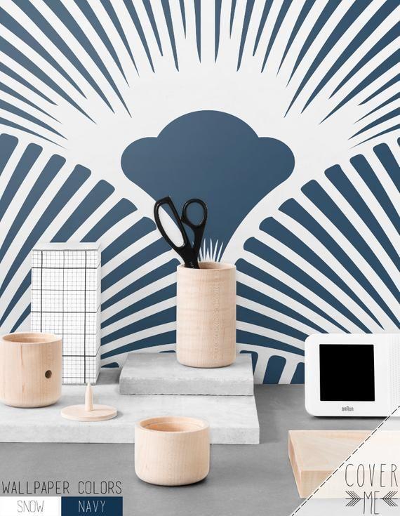 Papier Peint Bleu Marine Motif Geometrique Simple Fond D Ecran Amovible Mur Murale Geometrique Fond D Ecran Cm012 De Petoncles Papier Peint Bleu Papier Peint Papier Peint Motif