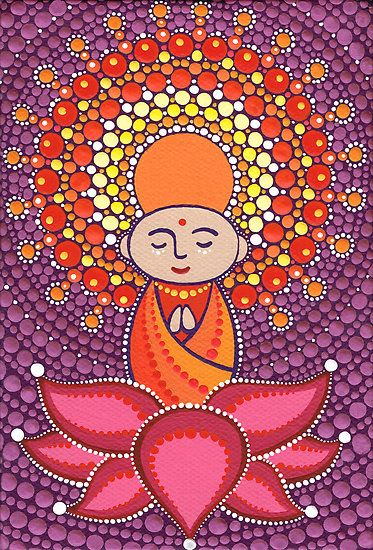 Jizo Meditating upon a Ruby Lotus by Elspeth McLean I am also the keep of this beauty