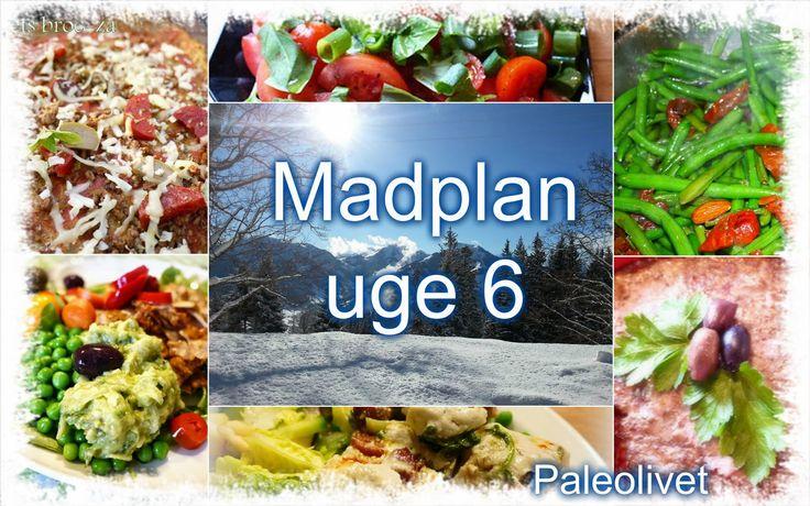 Paleolivet: Paleo madplan uge 6