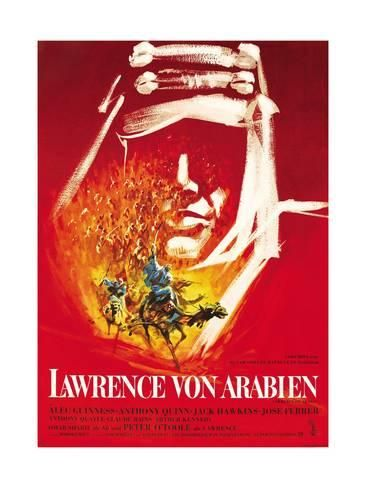 Lawrence of Arabia, (aka Lawrence Von Arabien), German Poster Art, 1962 ジクレープリント