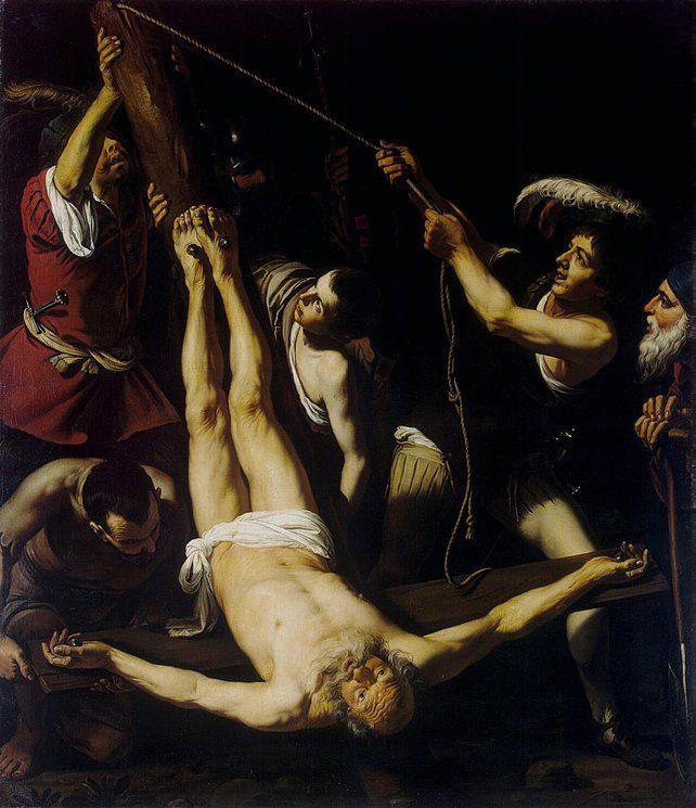 Martyrdom of St Peter, oil, Paris, 232x201 cm  Lionello Spada 1576-1622