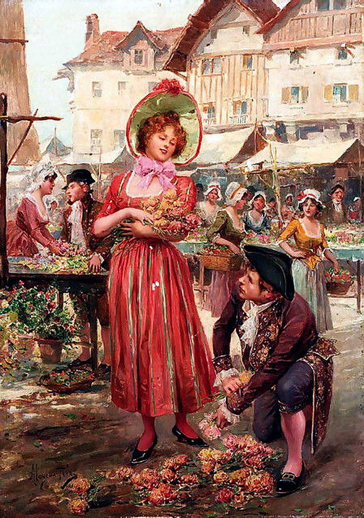 Mariano Alonso Perez y Villagrossa (1857-1930) - Цветочный рынок