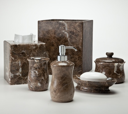 31 best images about stone bath accessories on pinterest On brown marble bathroom accessories