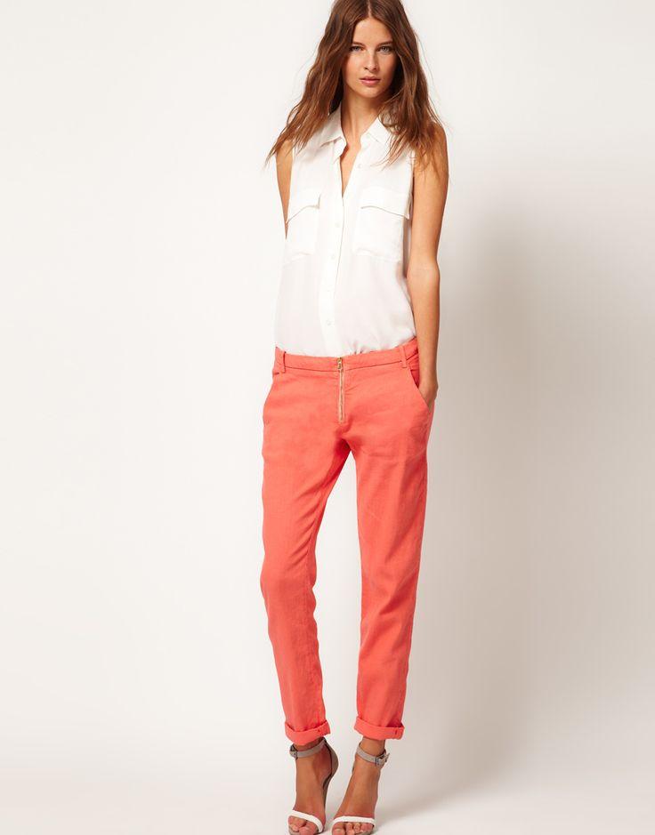 Модные льняные брюки