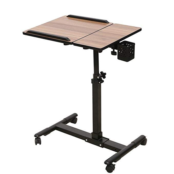 Thomas Laptop Rolling Cart Table Height Adjustable Mobile Laptop Stand Desk From Review Desk Height Adjustable Laptop Stand