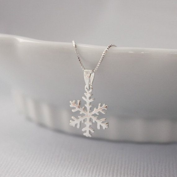 Reserved for Amy - Snowflake Necklace, Sterling Silver Snowflake Pendant on Sterling Silver Necklace Chain