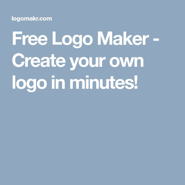 Free Logo Maker - Create your own logo in minutes!