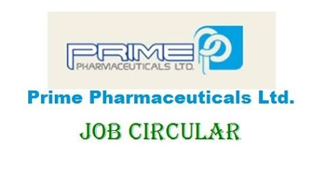 Prime Pharmaceuticals Ltd Job circular 2018 published today on their