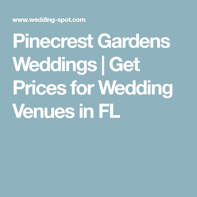 Pinecrest Gardens Weddings | Get Prices for Wedding Venues in FL