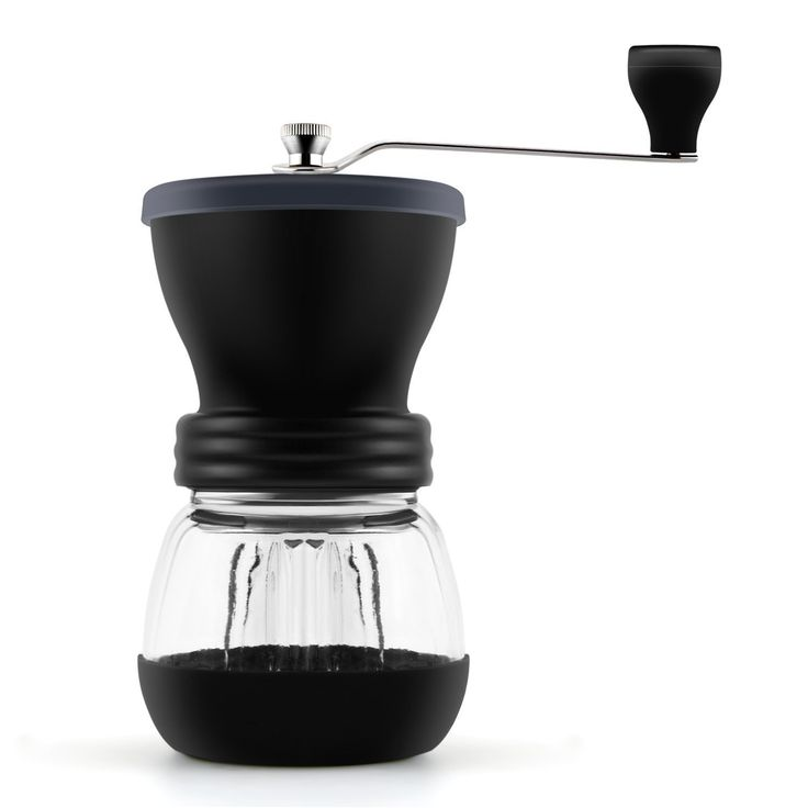 Decen Manual Coffee Grinder, Ceramic Burr Coffee Mill, Hand Crank Glass Manual Grinders (100g)