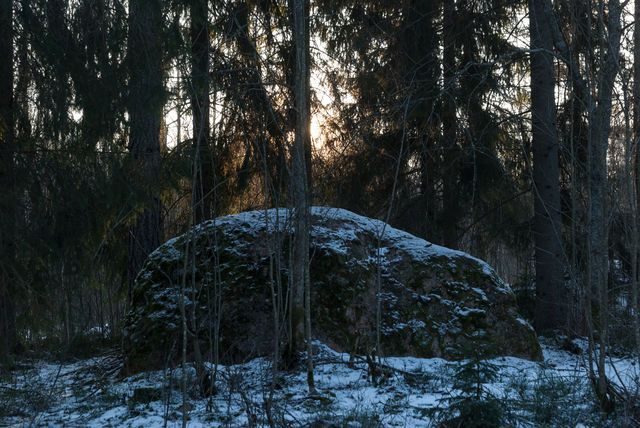 The sleeping stone that lies there still. Where only last rays of the sun, Where only gaze of passing man Can wake its soul. Imatra, Finland - Photo by Vic Istomin on EyeEm