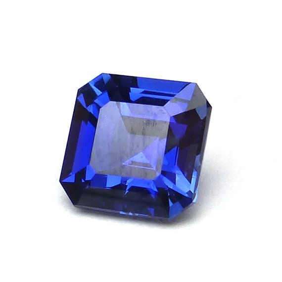 Blue Sapphire Asscher Cut Loose Gemstone Perfect for by saxdsign