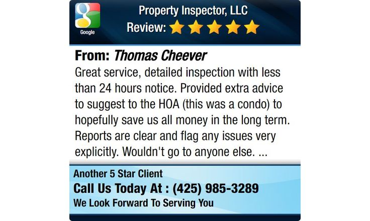 Great service, detailed inspection with less than 24 hours