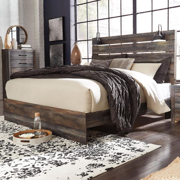 Signature Design by Ashley Drystan King Panel Bed in Burnt