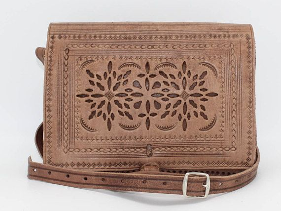 Tooled leather bag,Leather crossbody bag, Brown leather bag, leather bag, crossbody bag, crossbody purse, sacoche femme, sac bandouliere