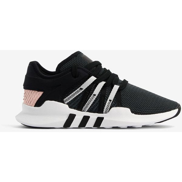 Adidas Adidas Adidas Originals Eqt Racing Adv Sneakers ($96) ❤ liked on Polyvore featuring shoes, sneakers, black, striped sneakers, adidas trainers, stretch trainer, stripe shoes and adidas