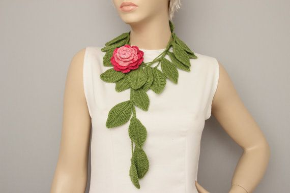 crochet jewelry /crochet pendant / crochet necklace/ by SenasShop