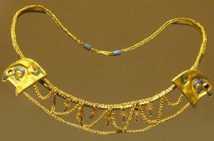 Collier égypte antique - Epoque  ptolémaïque  ptolémaïque. 305-30