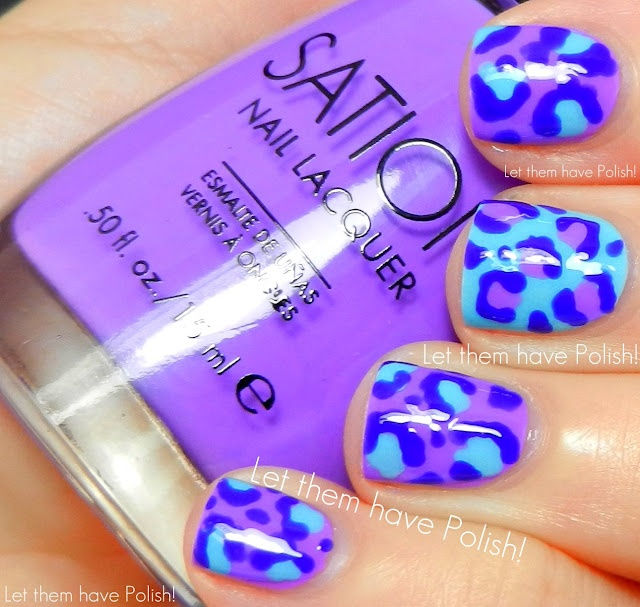 Let them have Polish!: Muffin Monday!! Sation Tardy Tart, Jock Juggle and Miss Emo Shun All Nail Art: Muffins, Colors Combos, Nails Art, Mondays, Animal Prints, Leopards Nails, Cheetahs Prints, Purple And Blue, Leopards Prints Nails