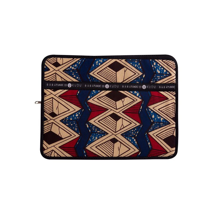 13-inch laptop sleeve Djiji. Offering both style and protection, the Babatunde and Kudu brands have teamed up to bring you this beautifully made, high quality range of laptop sleeves.Stitched in South Africa using traditionalWest African wax-print cotton you will be sure to have the best-dressed laptop in the office!