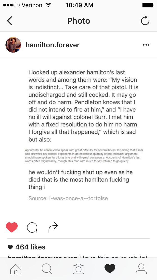 Hamilton: *dies* Some other person: He finally shut up! Hamilton Zombie: And another thing!