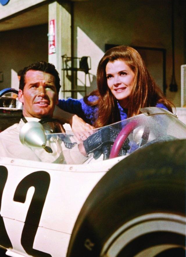 James Garner and Jessica Walter in Grand Prix, 1966