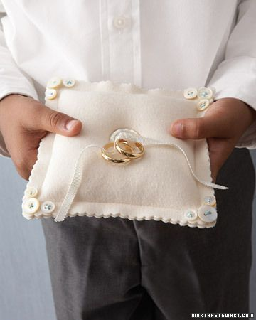 Button Ring Pillow